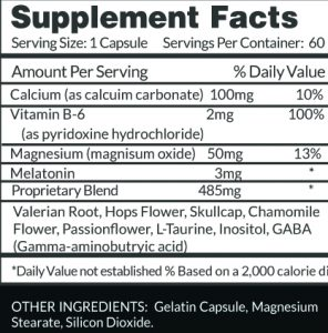 Sleep Supplement Facts